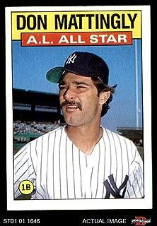 1986 Topps # 712 All-Star Don Mattingly New York Yankees (Baseball Card) Dean's Cards 5 - EX Yankees