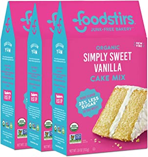 Foodstirs Organic Simply Sweet Vanilla Cake Mix 20 Ounce (Pack of 3)
