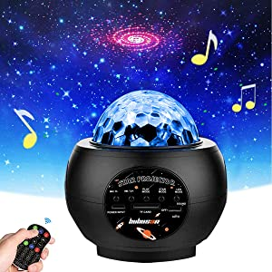 Star Light Projector Galaxy Solar System Home Planetarium for Bedroom Decor Starry Projector Moving Ocean Wave Lamp with Bluetooth Music Speaker for Kids and Adults.