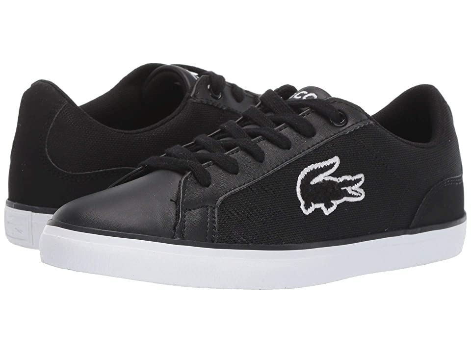 Lacoste Kids Lerond 219 1 CUJ (Little Kid/Big Kid) (Black/White) Kid