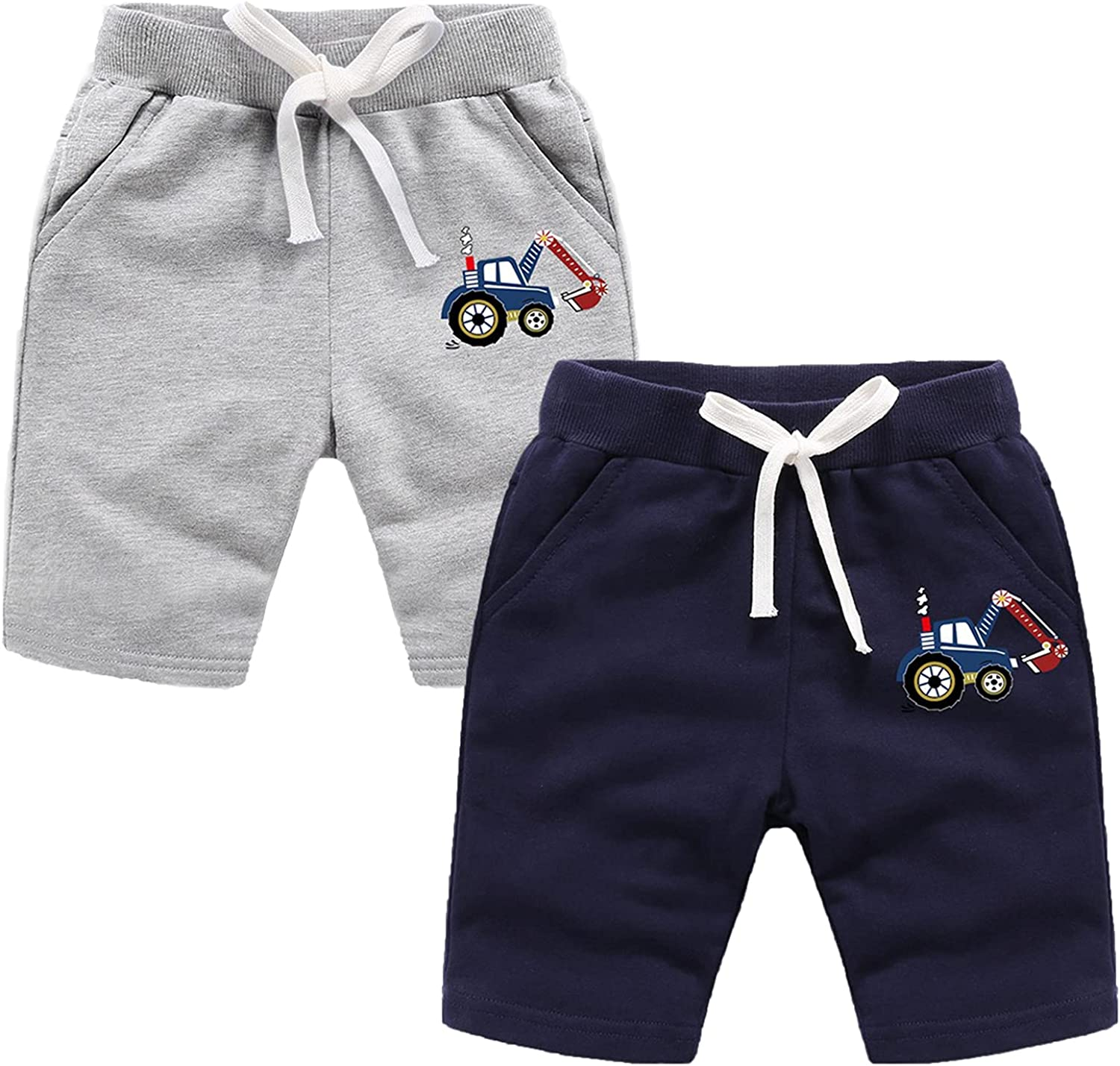 Baby Boys Girls Summer Rare 2 Pack Cotton Shorts Pull Surprise price Toddler Casual