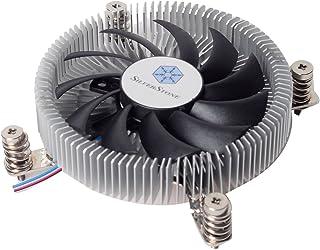 SilverStone SST-NT07-115X - Disipador para CPU Nitrogon, Perfil bajo, PWM de 80mm, Intel