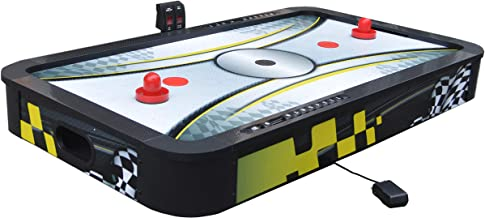 Hathaway Le Mans 42-in Tabletop Air Hockey Table, Black/Yellow
