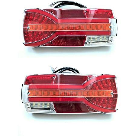 2x 7 Funktionen Led Rückleuchte E9 12v 24v Ip68 Für Bus Trailer Lkw Pkw Anhänger Auto