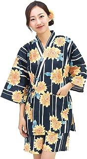 甚平 レディース 上下セット 綿100% 涼しい ルームウェア お部屋着 パジャマ おうちで甚平 浴衣柄 和柄【LLサイズ/3Lサイズ/4Lサイズ】