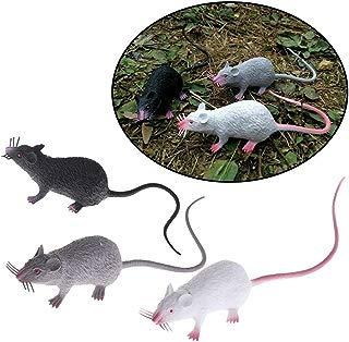 GlobalDeal 3Pc Plastic Rats Mouse Model Figures Kids Halloween Tricks Pranks Props Toy