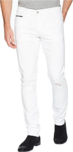 Slim Fit Jeans in Door White Destruct Wash
