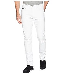 Slim Fit Jeans in Door White Destruct Wash