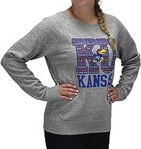 Royce Apparel Pressbox Women' s Kansas Jayhawks Aztec Sweater Pullover Light Weight