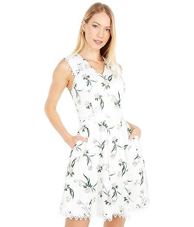 Ted Baker V-Neck Skater Dress (White) Women