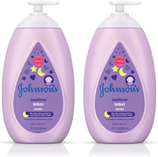 Johnson's Calming Bedtime Baby Lotion, Hypoallergenic and Paraben Free, Twin-Pack, 2 x 27.1 fl. oz