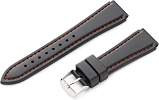 Men's MS3445RA 180 18-mm Genuine Rubber Diver Sport Watch Strap