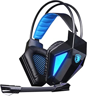 SADES SA710 7.1 Surround Sound USB Gaming Headset Noise Cancelling Headphone with Microphone for PS4 PC Mac (Black)