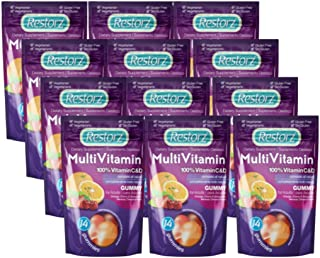 Adult Multivitamin Gummy by Restorz, Multivitamin Gummies with Zinc, Vitamin A, B Vitamins, Vitamin C, E, and D Vitamins, ...