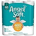 Angel Soft Toilet Paper, 12 Mega Rolls, 12 = 48 Regular Rolls, 484 Sheets per roll - Packaging May Vary