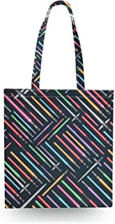 Lightsabers Star Wars Inspired Canvas Tote Bag - Zipper Canvas Tote Bag
