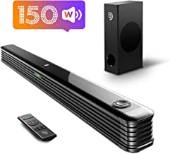 Best Bomaker Sound Bar with Wireless Subwoofer, 150W 2.1 CH Ultra-Slim TV Sound Bars for TV, Works with 4K & HD TVs, Treble & Bass Adjustable, LED Display, Bluetooth 5.0 Enabled, Outdoor Surround Sound Review