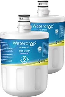 Waterdrop NSF 53&42 Certified Refrigerator Water Filter, Compatible with LG LT500P, 5231JA2002A, ADQ72910901, Kenmore GEN11042FR-08, 9890, 46-9890, Advanced Series, Pack of 2