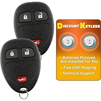 2 Pack Keyless2Go New Remote Car Key Fob for LaCrosse Cobalt Malibu Grand Prix G6 Solstice Models that use 22733523 Remote