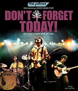 """the pillows 25th Anniversary NEVER ENDING STORY """"DON'T FORGET TODAY!""""2014.10.04 at TOKYO DOME CITY HALL (Blu-ray)"""