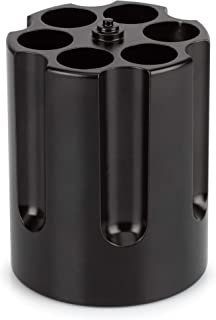 Barbuzzo Gun Cylinder Pen Holder & Paper Weight, Black - Lock & Load Your Favorite Pens and Pencils at your Office Desk - The Perfect Office Accessory & Gift - Made Out of Heavy Duty Cast Aluminum (UTU3GI0091)