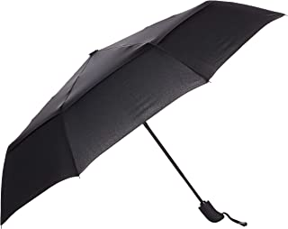 AmazonBasics Automatic Travel Small Compact Umbrella With Wind Vent - Black