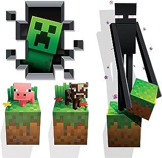 JINX Minecraft Wall Cling Decal Set (Creeper, Enderman, Pig, Cow)