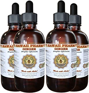 Ginger Liquid Extract, Organic Ginger (Zingiber officinale) Tincture 4x4 oz