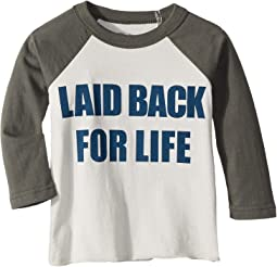 Super Soft Laid Back Print Long Sleeve Raglan Tee (Toddler/Little Kids)