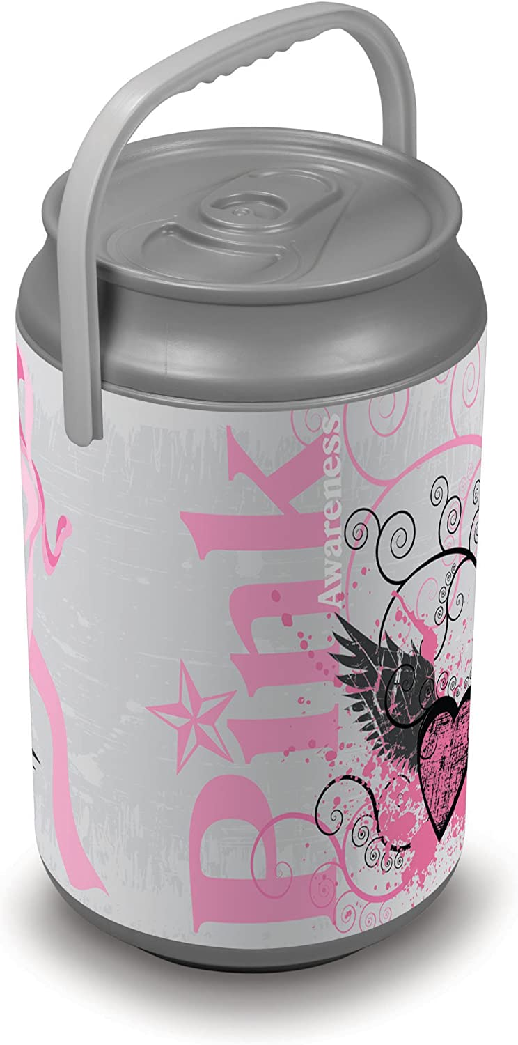 Picnic Time Insulated 27Can Mega Can Cooler, Pink Power