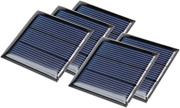 uxcell 5Pcs 1.5V 150mA Poly Mini Solar Cell Panel Module DIY for Light Toys Charger 45mm x 45mm