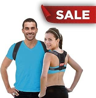 Back Straightener - Posture Corrector for Men & Women - Adjustable Upper Back Brace to Improve Bad Posture – Back and Shoulder Support Brace for Pain Relief - Kyphosis Brace by Upright Sport