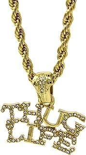 Jewel Town Mens Gold Plated Hip-Hop Rapper Thug Life Pendant 24