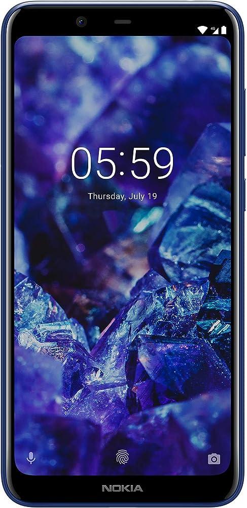 Nokia 5.1 plus, smartphones dual-sim,processore mediatek helio p60 a 8 core 11PDAL01A04