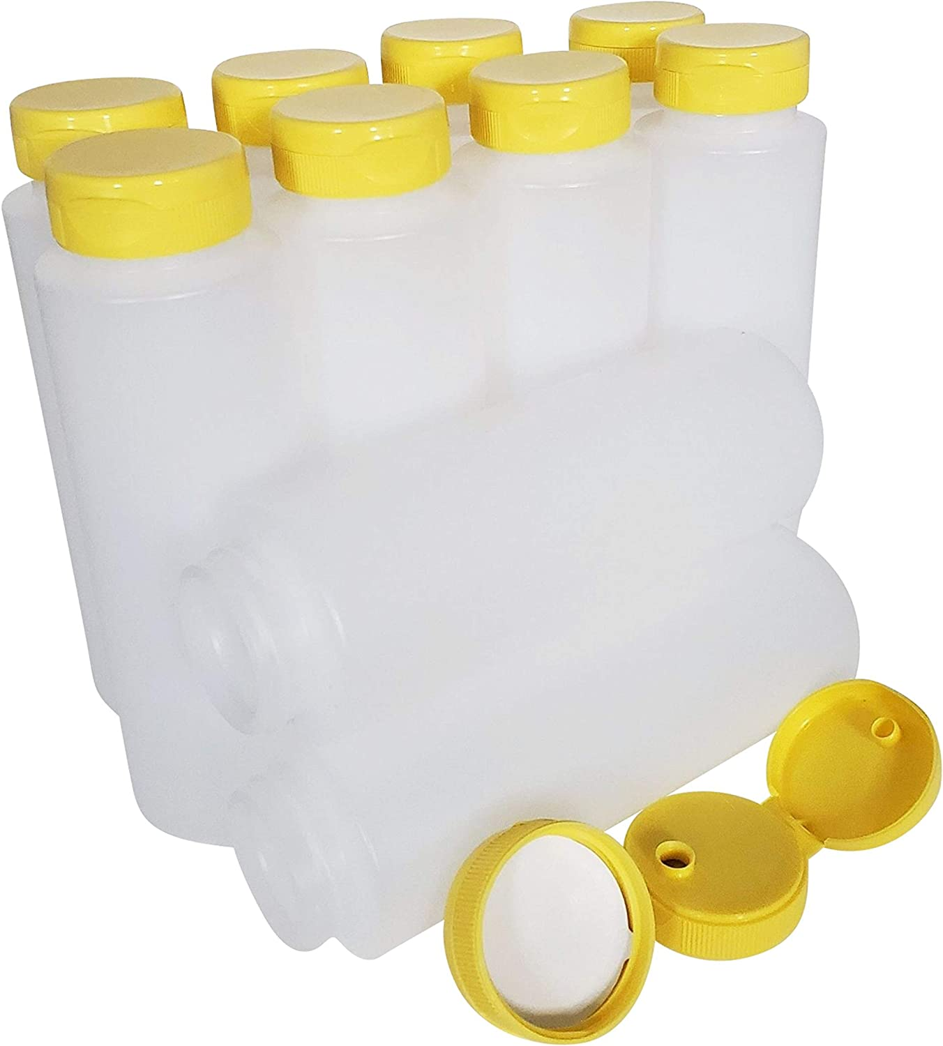 Directly managed store kelkaa 8oz HDPE Plastic Squeeze Save money Opening Bottles with Mouth Wide