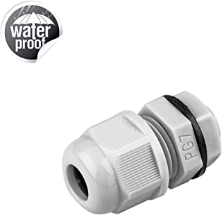 Gratury Cable Gland, IP68 Waterproof Adjustable Locknut for Cable Connection (PG7, 20pcs)
