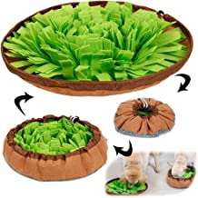 AWOOF Pet Snuffle Mat for Dogs, Interactive Feed Game for Boredom, Encourages Natural Foraging Skills for Cats Dogs Bowl T...