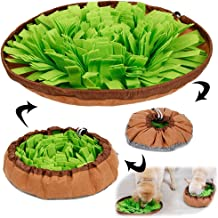 AWOOF Dog Puzzle Toys, Pet Snuffle Mat for Dogs, Interactive Feed Game for Boredom, Encourages Natural Foraging Skills for Cats Dogs Bowl Travel Use, Dog Treat Dispenser Indoor Outdoor Stress Relief