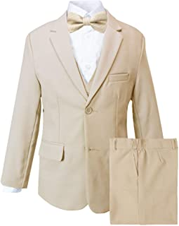 Unotux 3PC Shirt Gray Pants Nectie Set Baby Boy Toddler Kid Formal Suit Sm-202