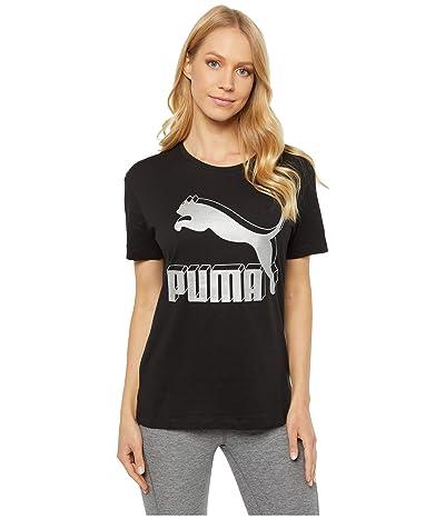PUMA Classics Logo Tee (Puma Black/Metallic) Women