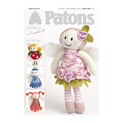 Patons Fairy Flower Dolls Knitting Pattern Booklet (Book 3806)