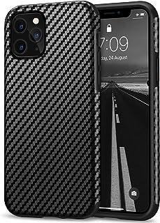 Tasikar Compatible with iPhone 11 Pro Case Carbon Fiber Leather Design with TPU Bumper Premium Hybrid Case (Black)