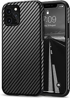 Tasikar Compatible with iPhone 11 Pro Max Case Carbon Fiber Leather Design with TPU Bumper Premium Hybrid Case (Black)