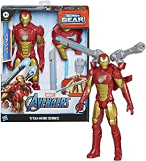 Hasbro Marvel Legends Series Avengers - Iron Man (Action Figure 30cm con Blaster Titan Hero Blast Gear)