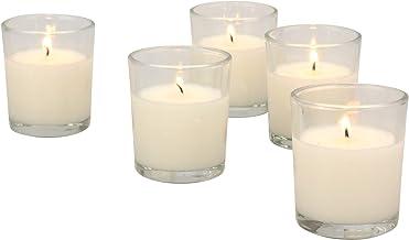 48 قطعة من Stonebriar شمع شفاف بحرق طويل غير معطر معبأ بالزجاج، لون عاجي