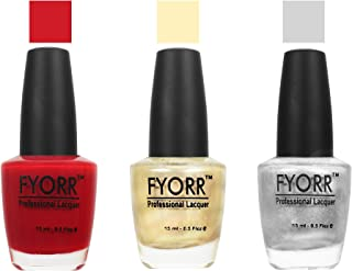 FYORR The Christmas Collection Nail Polish - Set of 3 (15 Ml Each)