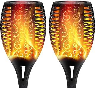 XERGY Solar Lights Outdoor Waterproof Dancing Fire Mashaal Flame Torch 96 LED Lantern Landscape Decoration Lighting Dusk t...
