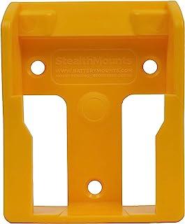5 x Yellow StealthMounts Battery Mounts for DeWalt 18v XR