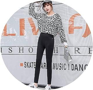 春のシンプルな女性のカジュアルパンツファッション野生の9点の小さな足のズボン,黒,S