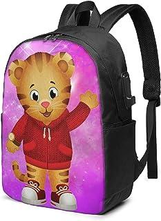 USB Backpack 17 in Daniel Tiger 's Neighborhood Unisex Popular Mochila de 17 Pulgadas con Puerto USB, Mochila para portátil, Mochila para Hombres, Mochila para Mujer, Mochila de hidratación